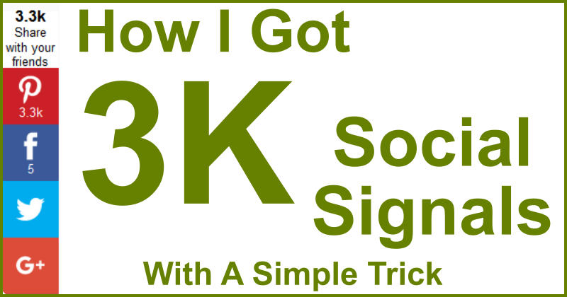 How I Got 3k Social Signals With A Simple Trick