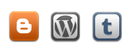 Blogger, WordPress, Tumblr icons