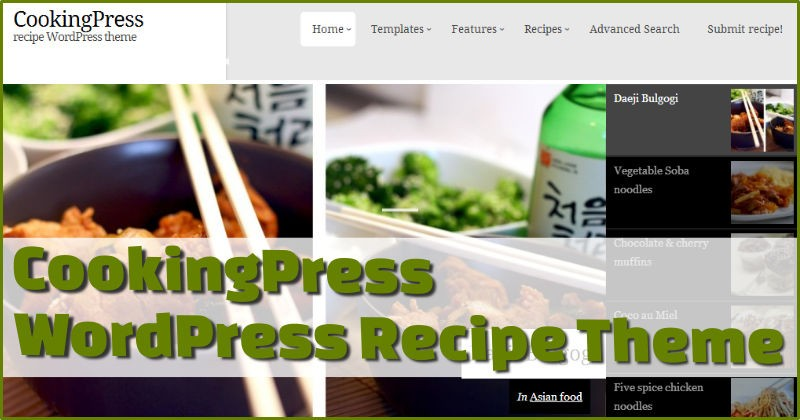CookingPress Recipe Theme