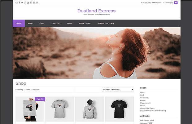 Dustland Express WooCommerce theme screenshot