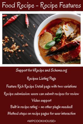 Food Recipes Recipe Features