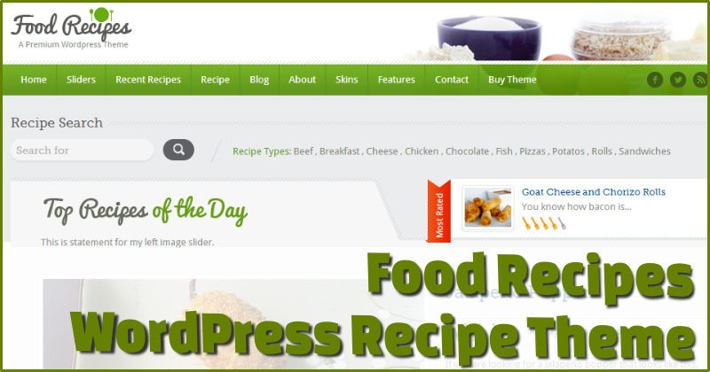 Food Recipes Recipe Theme