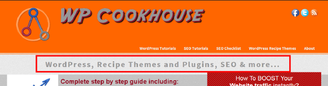 Homepage Tagline Example
