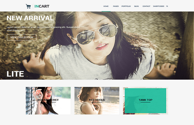 Incart Lite WooCommerce theme screenshot