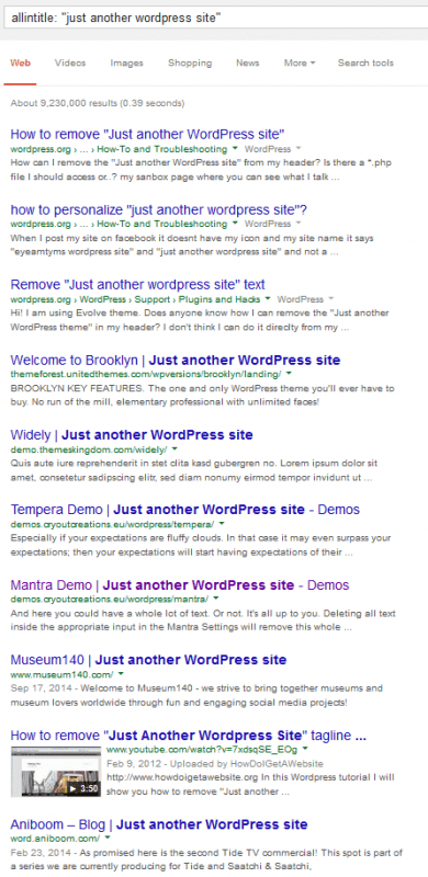 Just another WordPress site tagline