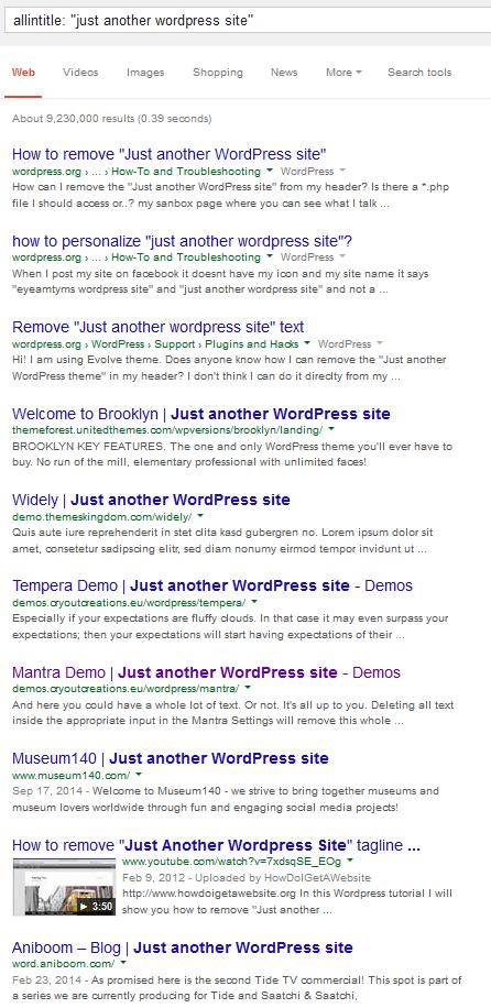 Just another WordPress site tagline