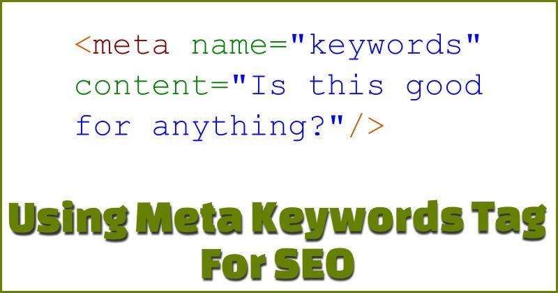 Meta keywords SEO