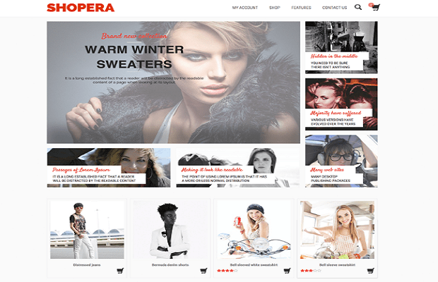 Shopera WooCommerce theme screenshot