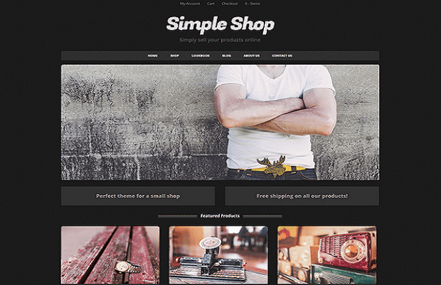 Simple Shop WooCommerce theme screenshot