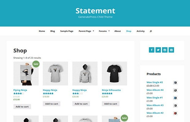 Statement WooCommerce theme screenshot