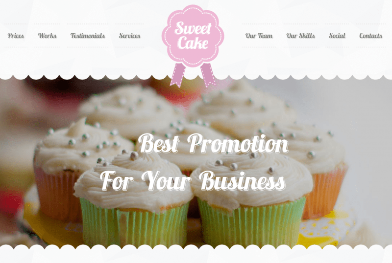 Sweet Cake Bakery WordPress Theme Screenshot
