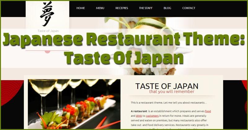 Taste of Japan Theme