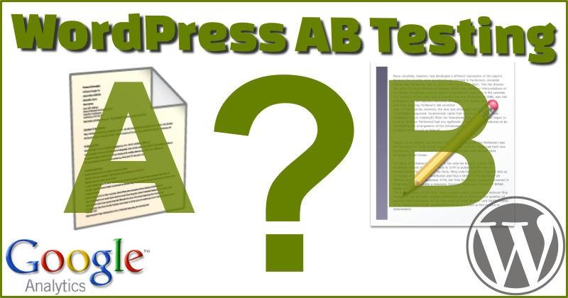 WordPress AB Testing