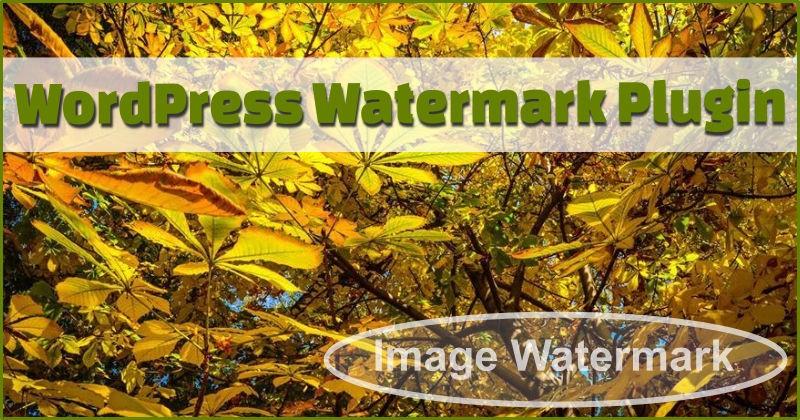 Wordpress watermark plugin