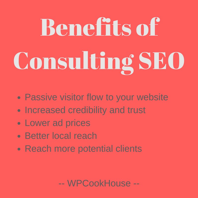 Benefits of consulting SEO