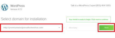 Bluehost Install WordPress Step 1