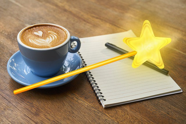 Coffee and magic wand