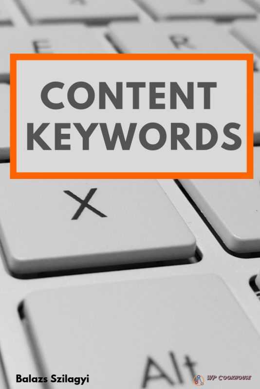 Content keyword SEO