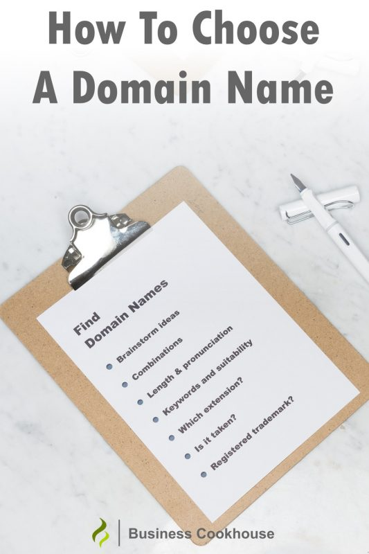 How to choose a domain name Pinterest