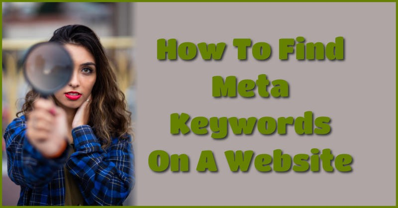 How to find meta keywords on a website