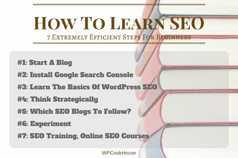 How To Learn SEO - 7 steps