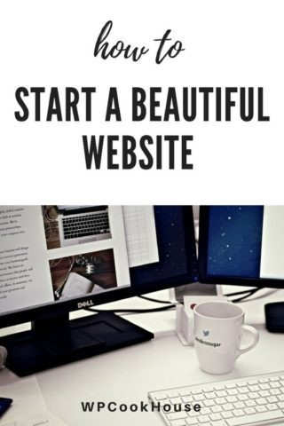 How to start a beautiful website
