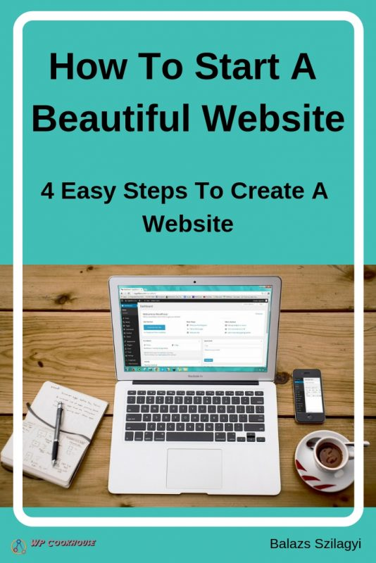 How to start a beautiful website 4 steps