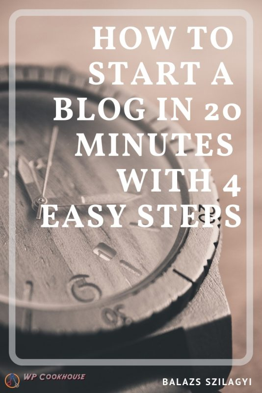 how to start blog in 20 minutes