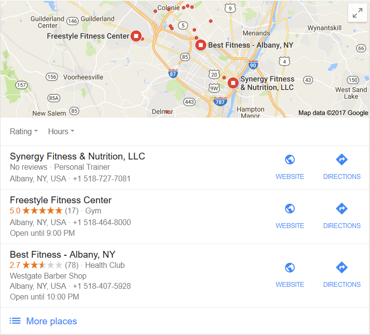 Local SEO map example