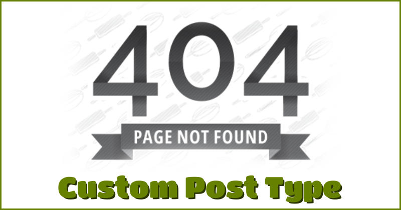 Page not found custom post type