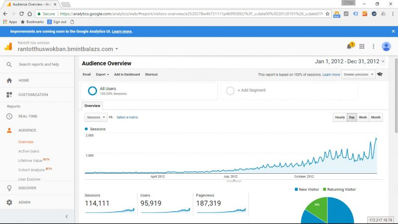 RHW Google Analytics data 2012