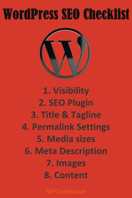 WordPress SEO checklist tips