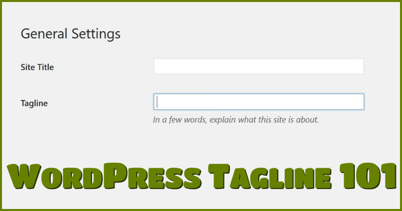 WordPress Tagline 101