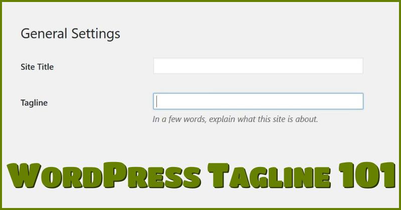 WordPress Tagline 101
