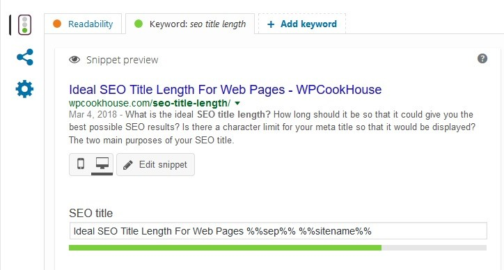 Preview your SEO title in YOAST SEO